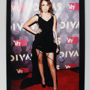 Singer Hannah Montana Miley Cyrus Signed Autographed 8x10 Photo (COA JSA)