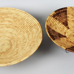 Shoshone Native Indian Large Weaved Baskets (2)