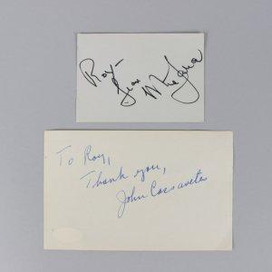 Rosemary's Baby - Mia Farrow & John Cassavetes Signed Vintage Cuts - COA JSA