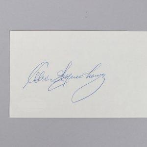 Lions - Eagles - HOF'er - Alex Wojciechowicz Signed 3x5 Index Card - COA JSA