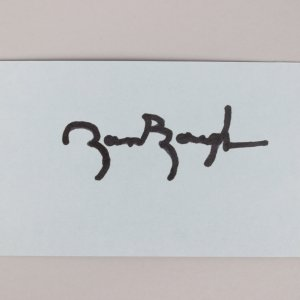 Washington Redskins -HOF'er- Sammy Baugh Signed 3x5 Index Card - COA JSA