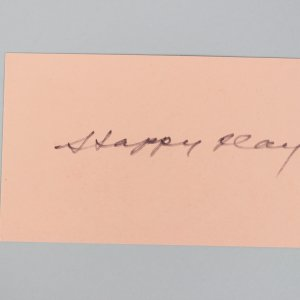 Toronto Maple Leafs - HOF'er - Hap Day Signed 3x5 Index Card - COA JSA