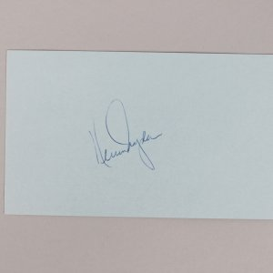 Montreal Canadiens - HOF'er - Ken Dryden Signed 3x5 Index Card - COA JSA
