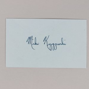 "NCAA Duke - ""Coach K"" - Mike Krzyzewski Signed 3x5 Index Card- COA JSA"