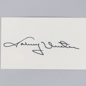Baltimore Colts - HOF'er - Johnny Unitas Signed 3x5 Index Card - COA JSA