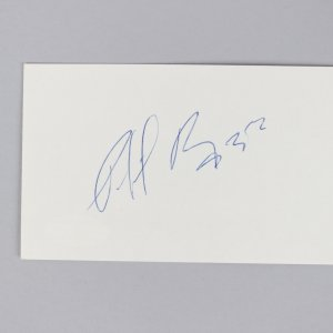 Montreal Canadiens - Patrick Roy Signed 3x5 Index Card - COA JSA