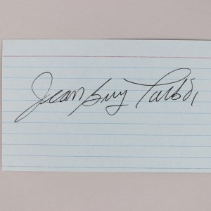 Montreal Canadians - Jean-Guy Talbot Signed 3x5 Index Card - COA JSA