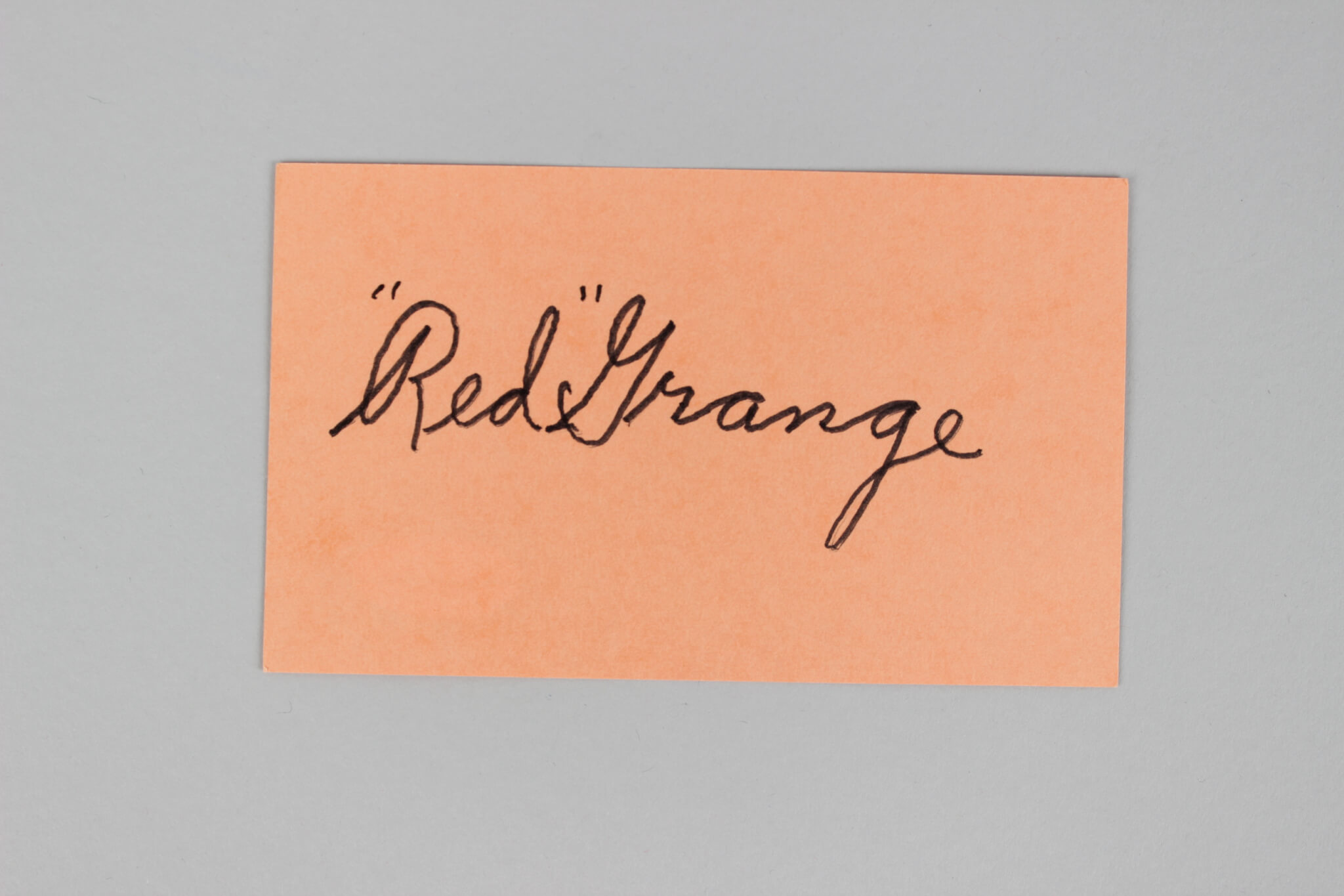 Chicago Bears -HOF'er- Red Grange Signed 3x5 Index Card - COA JSA
