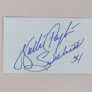 Chicago Bears- Walter Payton Signed & Inscribed 3x5 Index Card - COA JSA