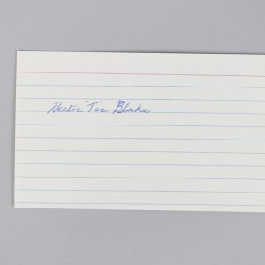 "Montreal Canadiens - Hector ""Toe"" Blake Signed 3x5 Index Card - COA JSA"