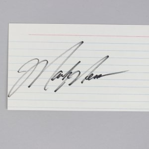 Edmonton Oilers - Mark Messier Signed 3x5 Index Card - COA JSA