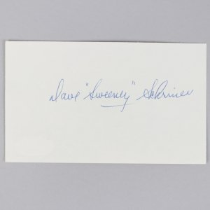"Toronto Maple Leafs- Dave ""Sweeney"" Schriner Signed 3x5 Index Card- COA JSA"