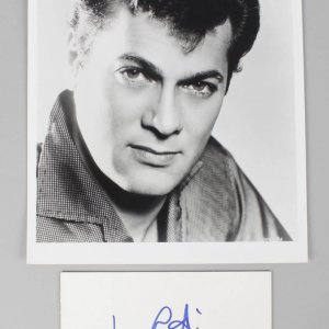 1953 Houdini - Tony Curtis Signed 4x6 Cut & Photo (Unsigned) - COA JSA
