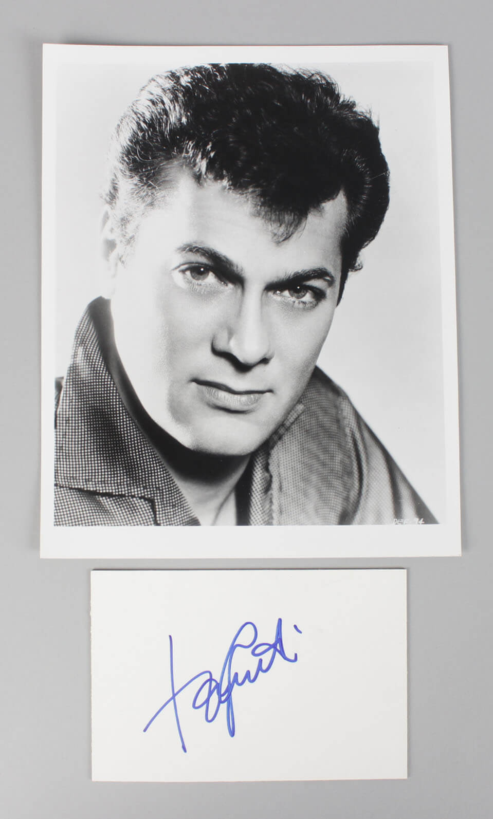 1953 Houdini - Tony Curtis Signed 4x6 Cut & Photo (Unsigned) - COA JSA