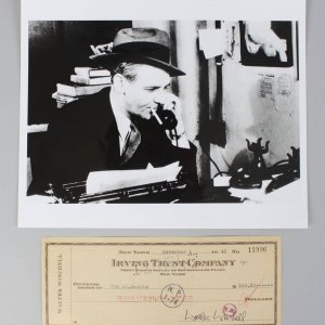 The Untouchables- Walter Winchell Signed Check & 8x10 Photo (Unsigned)- COA JSA