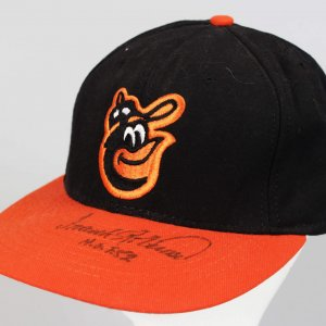 "Baltimore Orioles - Frank Robinson Signed & Inscribed ""HOF 82"" Baseball Hat - JSA"