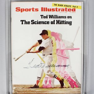 July 8, 1968 - Boston Red Sox - Ted Williams Signed Sports Illustrated Magazine - PSA/DNA