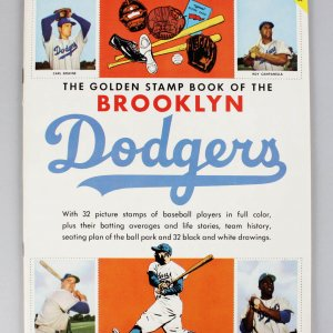 "1955 Brooklyn Dodgers ""The Golden Stamp Book"" (Complete)"