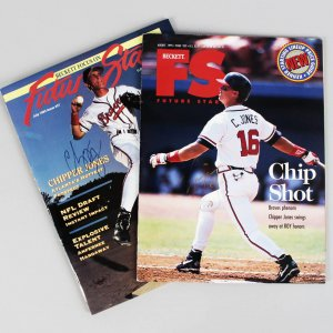 Atlanta Braves - Chipper Jones Signed 1993 & 1995 Beckett Future Stars Magazines - JSA
