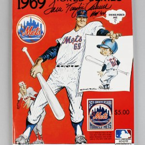 NY Mets - Tom Seaver Signed & Inscribed 1969 World Series Program (Remake) - JSA