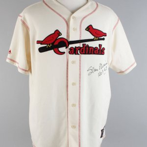 Cardinals - Stan Musial Signed & Inscribed Cooperstown Collection Majestic Jersey - PSA/DNA