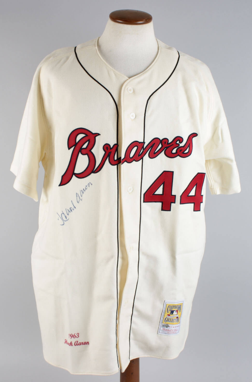 25da884c Hank Aaron Signed Milwaukee Braves Cooperstown Collection Mitchell & Ness  Jersey – JSA Full LOA