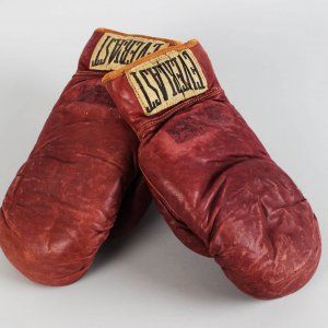 "Jake ""Raging Bull"" LaMotta vs. Norman Hayes Fight-Worn Gloves (w/LOA)"