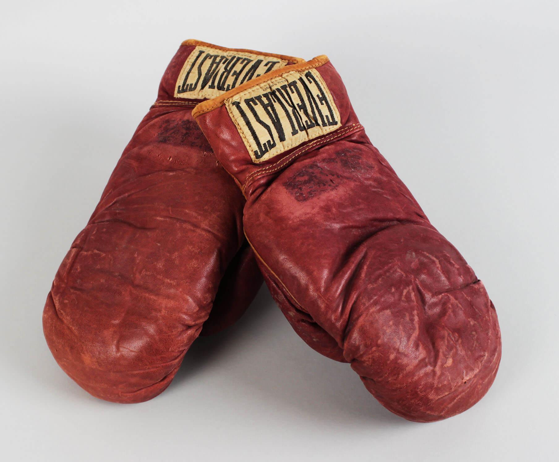 "Jake ""Raging Bull"" LaMotta vs. Norman Hayes Fight-Worn Gloves (w/LOA)"