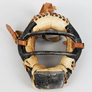 1950's New York Yankees - Yogi Berra Game-Used, Signed Spalding Catchers Mask