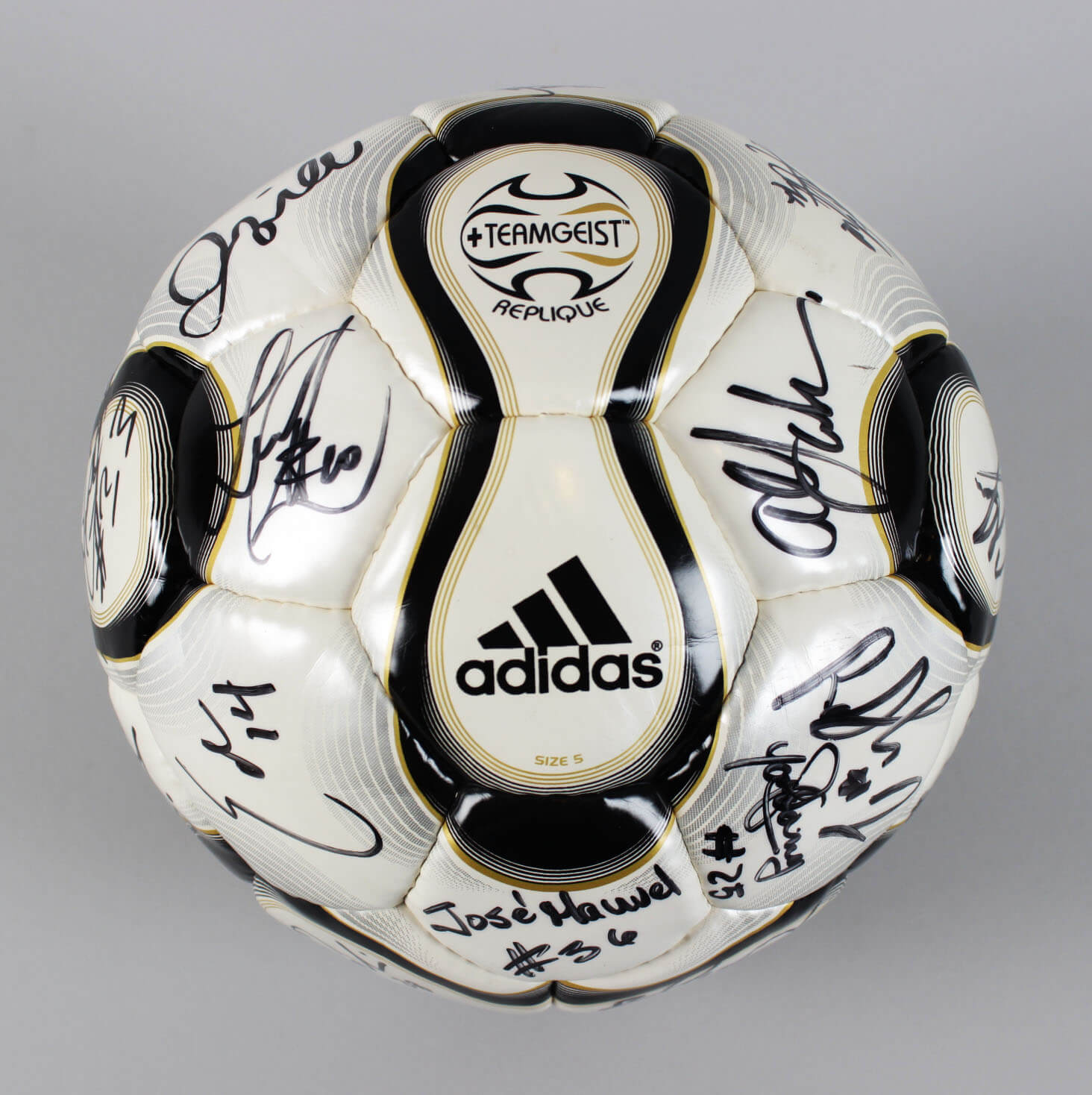2008 Los Angeles Galaxy Team Signed Soccer Ball – David Beckham, Landon Donovan & Others – JSA61108_01