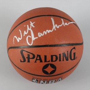 NBA - Philadelphia 76ers - Wilt Chamberlain Signed Basketball - JSA
