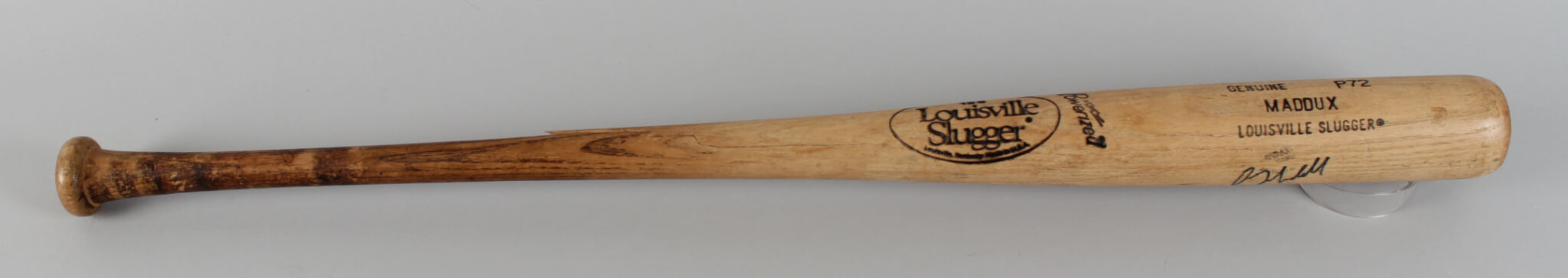 Greg Maddux Signed Bat Cubs - COA JSA
