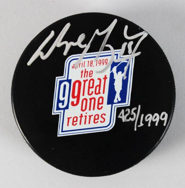 Edmonton Oilers - Wayne Gretzky Signed LE 425/1999 Hockey Puck - JSA