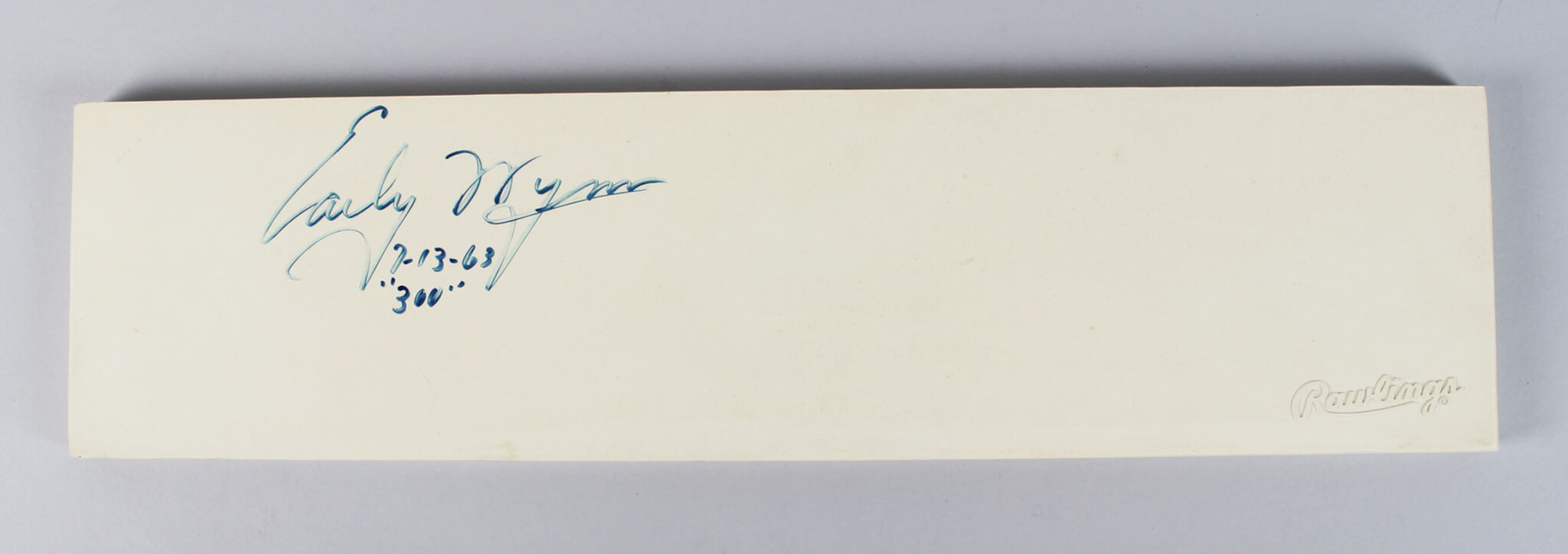 Early Wynn Signed Pitching Rubber Indians - COA JSA