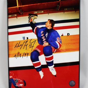 "Wayne Gretzky New York Rangers - Signed & Inscribed ""4/18/99"" 11x14 Photo - JSA"