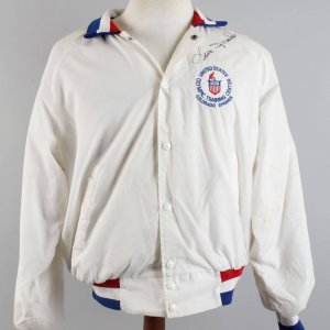 Leon Spinks Boxing Signed Twice & Worn U.S. Olympic Training Center Colorado Springs Jacket