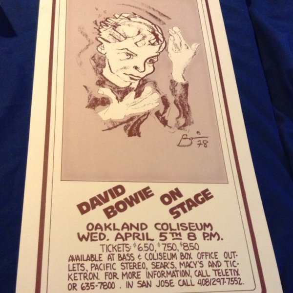 1978-David-Bowie-on-Stage-Original-RARE-Concert-Poster-signed-Randy-Tuten