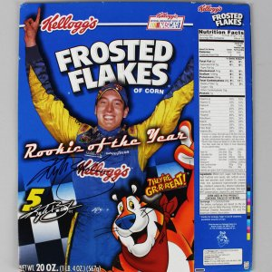 NASCAR - Kyle Busch Signed Kellogg's Frosted Flakes Cereal Box - COA JSA