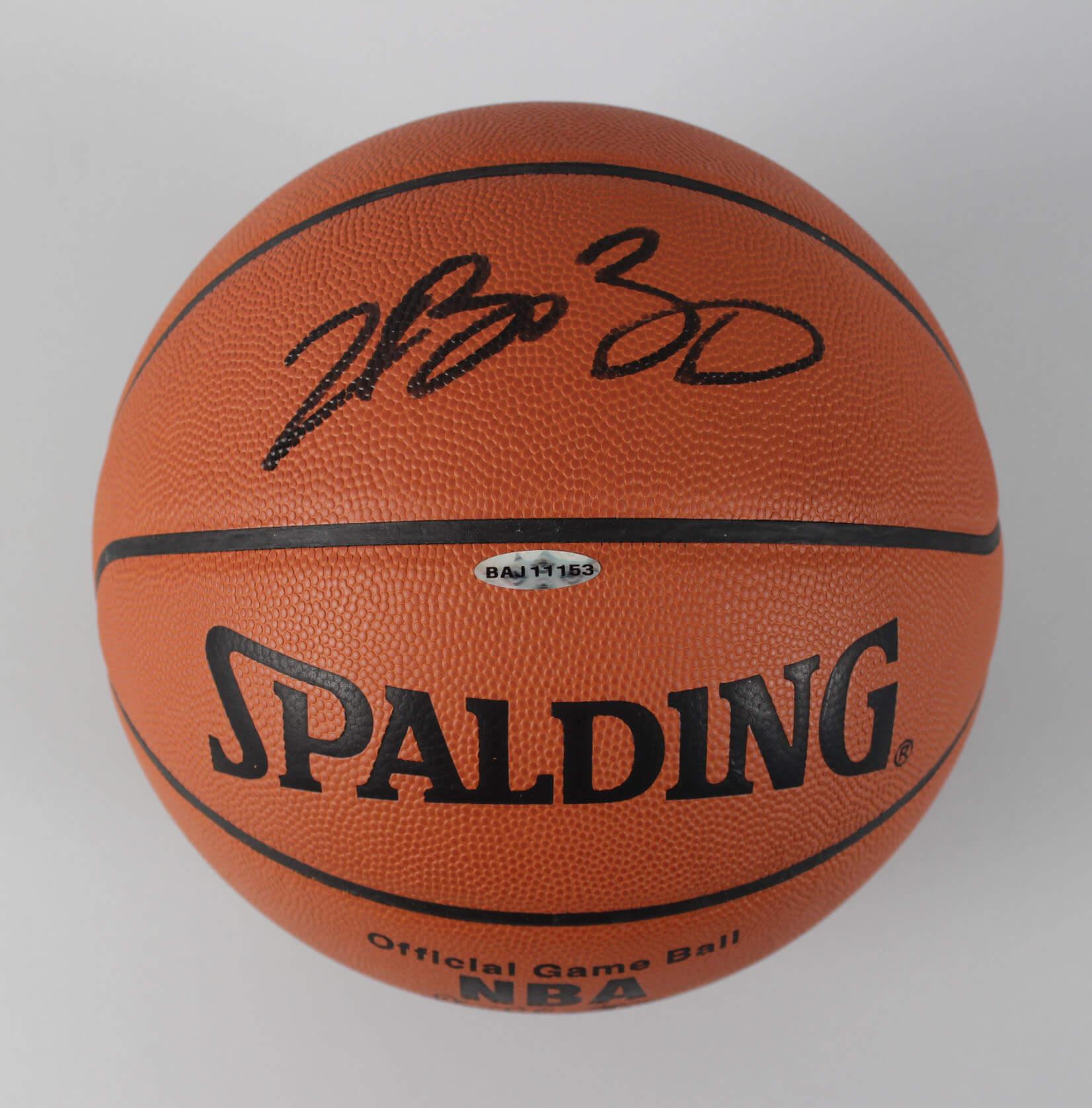 new concept ceff6 a2de9 LeBron James Cleveland Cavaliers Signed Official NBA Basketball - COA UDA