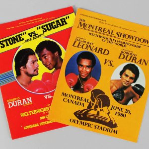1980 Boxing - Sugar Ray Leonard vs. Roberto Duran I & II Lot (2) Fight Programs