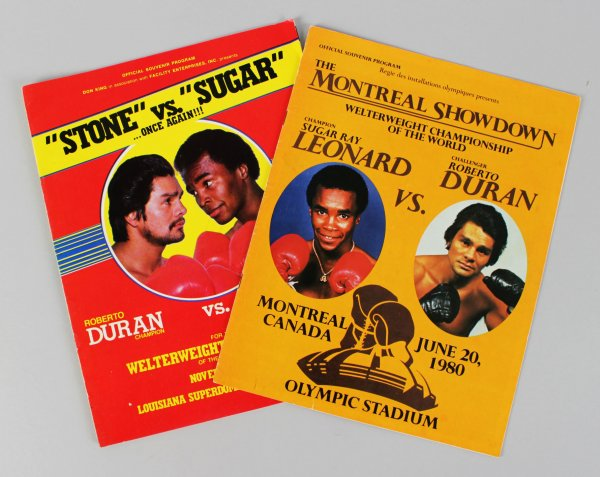 1980 Boxing - Sugar Ray Leonard vs. Roberto Duran Lot (2) Fight Programs