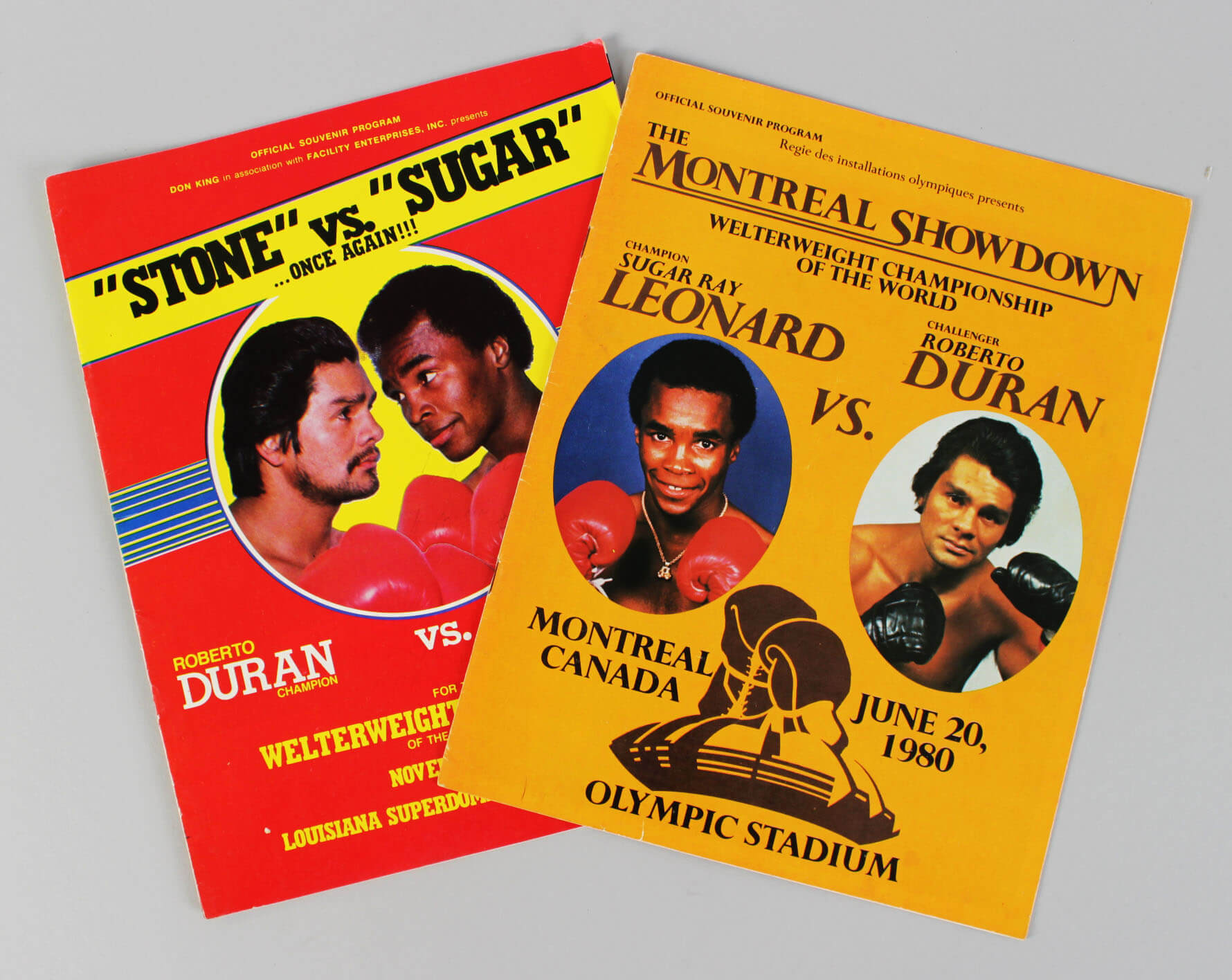 1980 Boxing – Sugar Ray Leonard vs. Roberto Duran Lot (2) Fight Programs61105_01