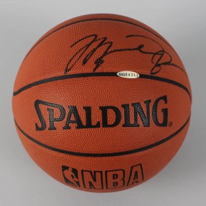 Michael Jordan Chicago Bulls Signed Official NBA Basketball - COA UDA