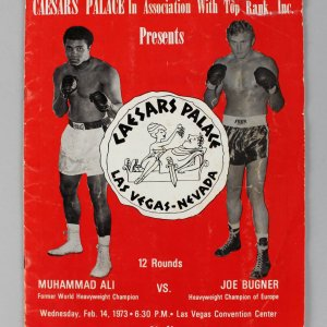 Muhammad Ali vs. Joe Bugner Caesars Palace Boxing -Feb. 14, 1973- Boxing Fight Program