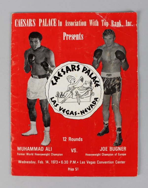 Caesars Palace Boxing - Feb. 14, 1973 - Muhammad Ali vs. Joe Bugner Fight Program