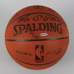 2008 Boston Celtics Team Signed LE 191/500 Official Basketball (10) Garrnet, Allen etc. - COA UDA