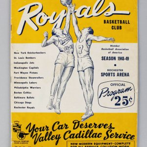 1948-49 Rochester Royals BAA (NBA) Basketball Program