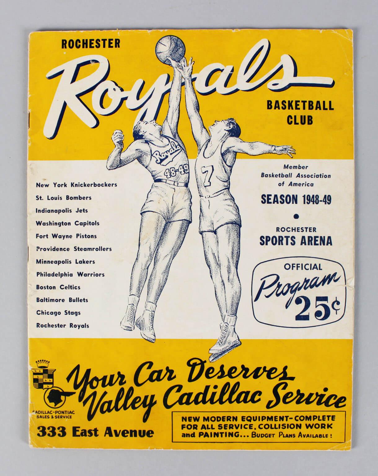 NBA – 1948-49 Rochester Royals Program61075_01