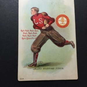1905 ULLMAN MFG CO FOOTBALL PLAYER LELAND STANFORD JR. STANFORD UNIVERSITY #1519