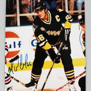 Pittsburgh Penguins - Mario Lemieux Signed & Inscribed 8x10 Photo - JSA